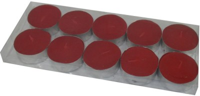 MAV Tea-light (Red, Pack of 10) Candle