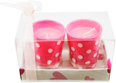 The Candle Shop Baby Pink Polka Dot Candle