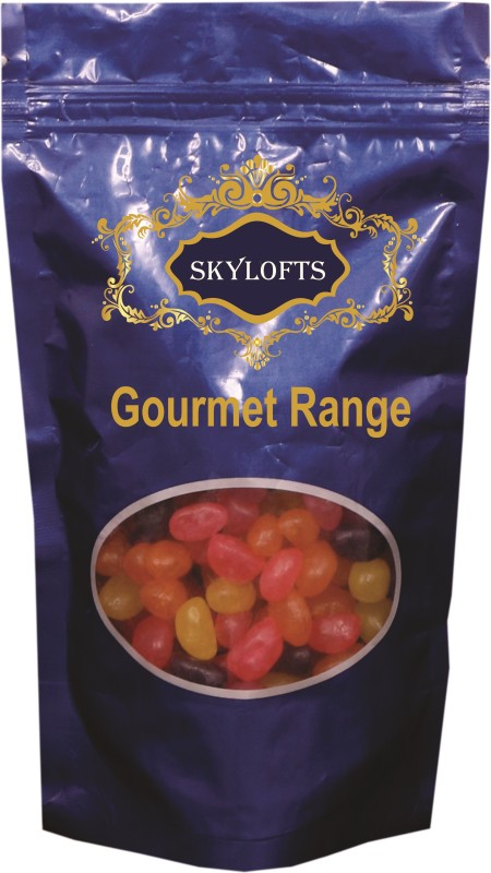 Skylofts Khatta Meetha Assorted pack Strawberry, Lemon, Black Currant, Orange Jelly Beans(Pack of 1)