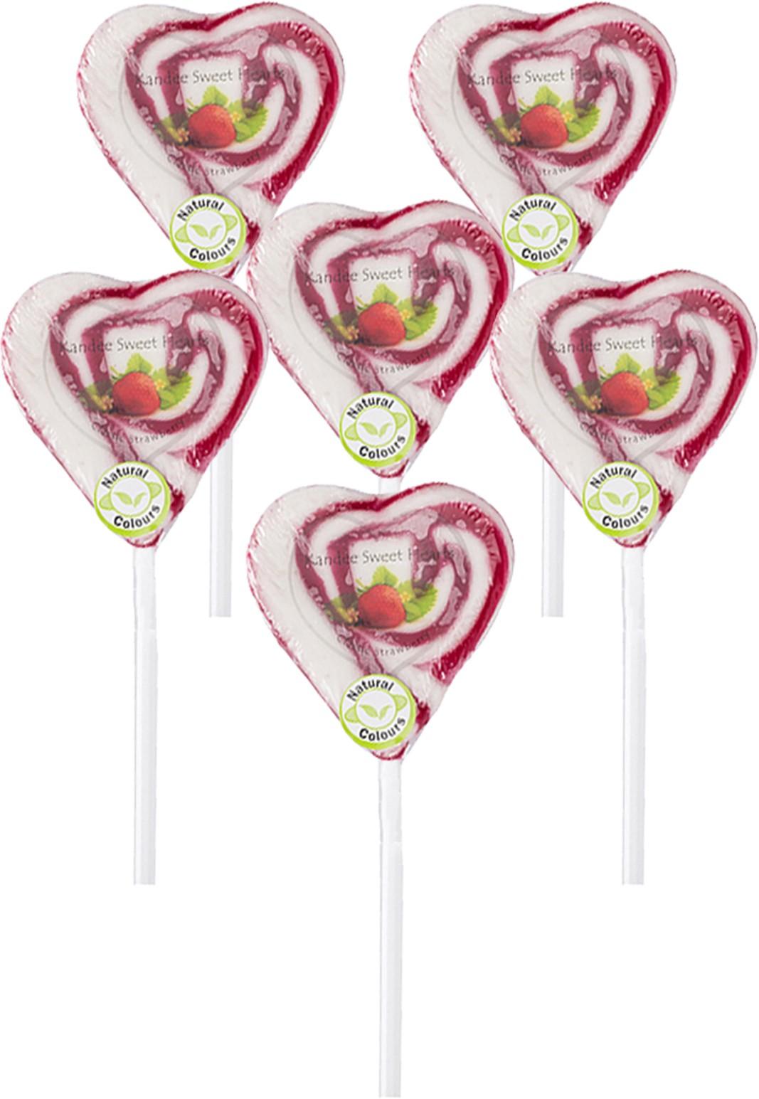 Kandee Sweet heart Strawberry Lollipop
