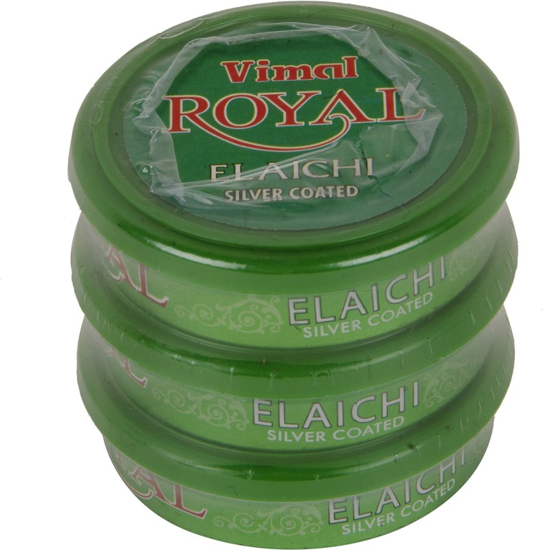 Vimal Royal Elaichi 3 Pocket Packs 10g each Mint Mouth Freshener(Pack of 3)