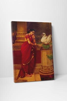 Canvas Champ Raja Ravi Varma Hamsa Damyanthi Painting 24