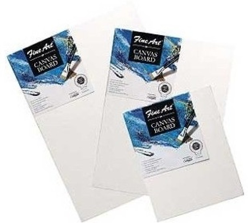 Pidilite Cotton Medium Grain Canvas Board (Set of 6)(White)