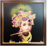 Canvas Champ Bal Krishna Framed Painting...
