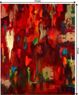 Tiedribbons True Love_Africa Villages unframed Cotton Medium Grain Canvas Roll (Set of 1)