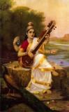 Canvas Champ Goddess Saraswathi Without ...
