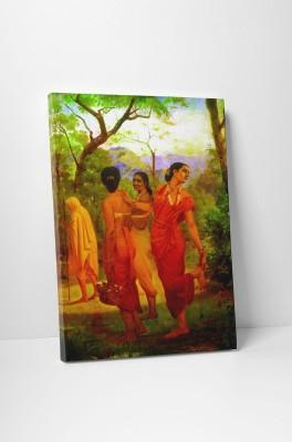 Canvas Champ Shakuntala - Looks Of Love (Gallery Wrap Canvas Prints) -Raja Ravi Varma Paintings-24