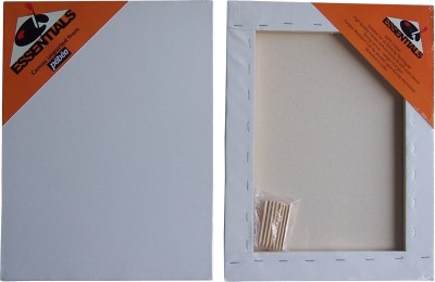 Essentials Cotton Medium Grain Stretched Canvas (Set of 1)