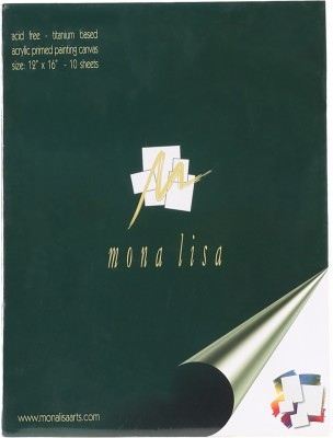 Mona Lisa Fine Art Cotton Fine Grain Primed Canvas Pad of 10 sheets (Set of 1)(White)