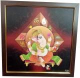 Canvas Champ Handcrafted Ganesha Framed ...