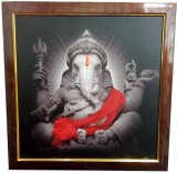 Canvas Champ Vintage Art Ganesha Framed ...