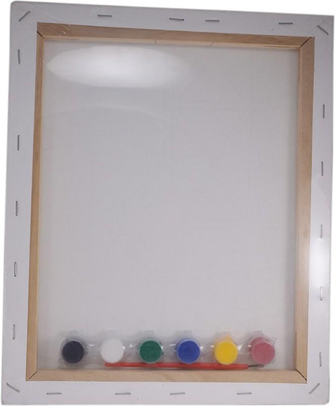 Saamarth Impex Na Polycotton Grain Stretched Board Canvas (Set of 1)(Multicolor)