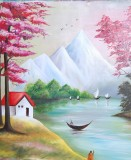 Canvas Champ Scenery Oil Painting Print ...