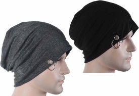 Takspin Solid Skull, beanie Cap(Pack of 2)