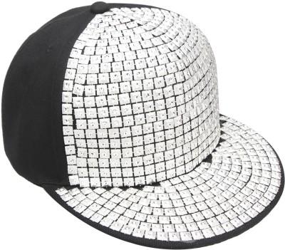 Vaishnavi Self Design Silver Cap