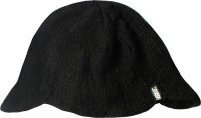 Never Ever Give In Woollen Cap Self Design Skull Cap