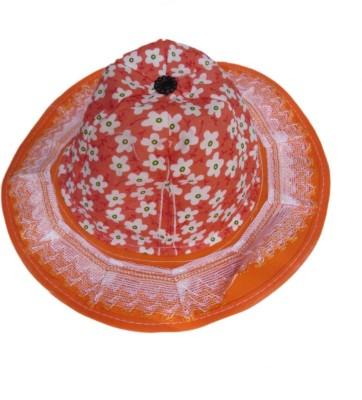 DCS Sun Hat For Unisex Kids Orange Cap