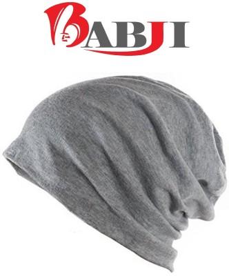 Babji Grey Beanie Skull Slouchy Cotton Cap