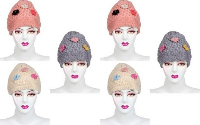 Gumber Self Design Skull Cap