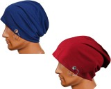 Atyourdoor Solid Skull Cap (Pack of 2)