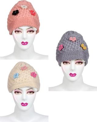 Ladies Top Self Design Skull Cap Cap