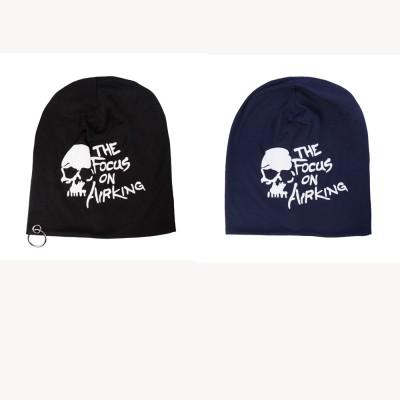 Noise Printed Skull Cap