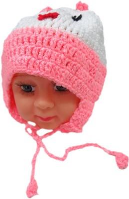 DCS Cute Pink Smiley Woolen Cap
