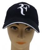 Babji Solid Black R Baseball Cap