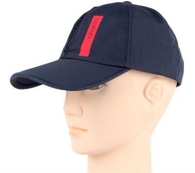Bonjour Polyester Self Design, Solid Sports Cap