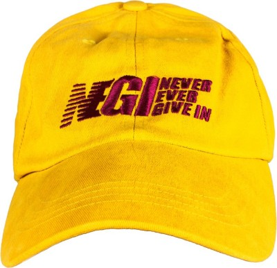 Never Ever Give In Baseball Solid Running Cap Cap