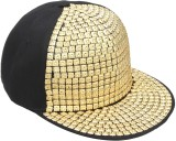 Vaishnavi Self Design Gold Cap
