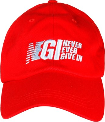 Never Ever Give In Baseball Solid Running Cap