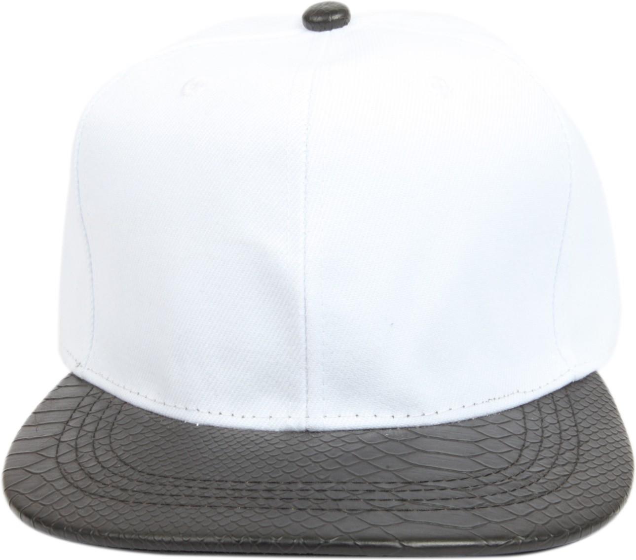 1524cf52460 ILU Solid Snake Skin White Cap