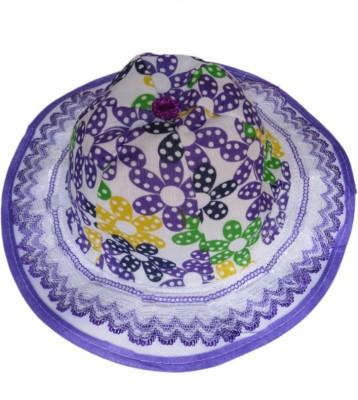 DCS Sun Hat For Unisex Kids Purple Cap