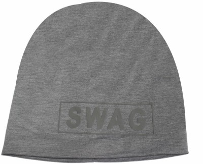 TakeIncart Solid Swag Grey Baggy Beanie Cap