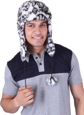Gajraj Italian Animal Print Fur Cap