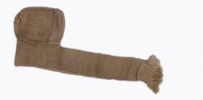 The Modern Knitting Shop Classic Indian KashmiriWool Scarf Self Design Scarf Cap