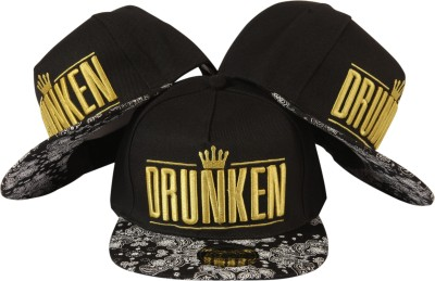 ILU Embroidered DRUNKEN, Crown, Logo, Snapback, Baseball, Hip-Hop Cap