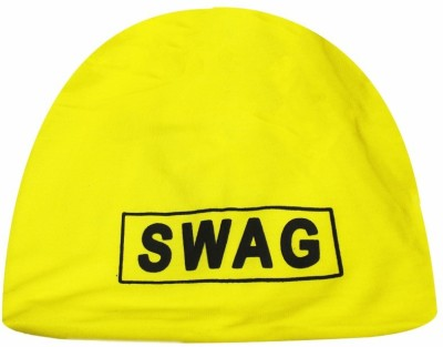 TakeIncart Solid Swag Yellow Baggy Beanie Cap