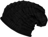 Babji Self Design Woolen Black slouchy B...