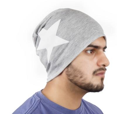 Noise Be a Star Beanie-Light Grey Printed Skull Cap
