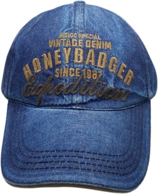 Honeybadger Embroidered Denim Baseball Cap