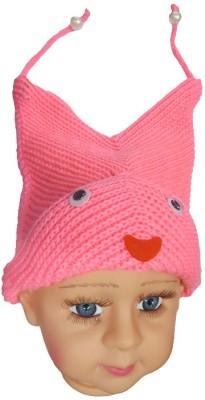 DCS Pink Smily woolen Cap