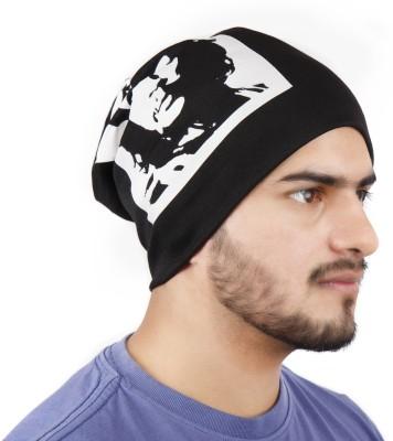 Noise Che Guevara Beanie- Black Printed Skull Cap