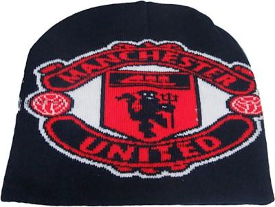 DCS Woolen Black With Red Designed Skull Cap