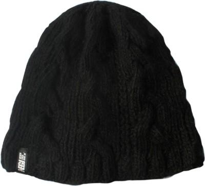 Never Ever Give In Woollen Solid Skull Cap