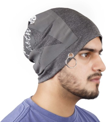 Noise Raw Earth Beanie With Ring Printed Skull Cap