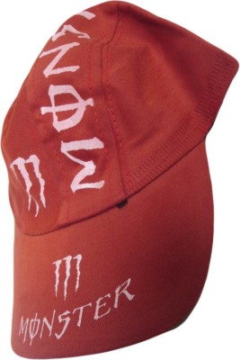 DCS Red Color Monster Design Kids Cap