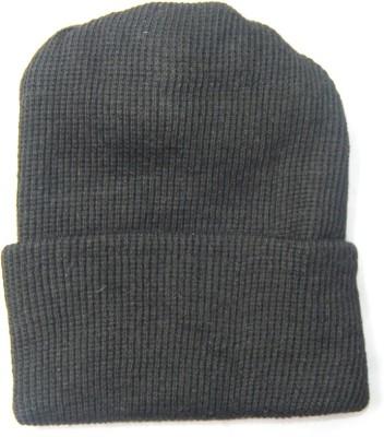The Modern Knitting Shop Double Knit Kashmilon Blended Wool Solid Skull Cap