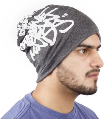 Noise Genuine Urban Minds Beanie-Dark Grey Printed Skull Cap